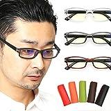 老眼鏡 おしゃれ メンズ ブルーライト 高機能ブルーライトカット老眼鏡 (M-308) (+2.00, スモークマット) 【お試し特別価格】