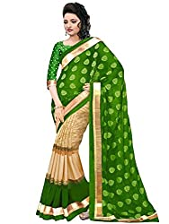 JMT Women's Georgette Saree ( JMT 127 _ Green )
