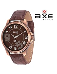 AXE Style Ablaze Collection Casual Analogue Men's Watch - X0148S_Brown