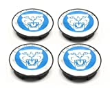 SET OF 4' CHROME BLUE JAGUAR ALLOY WHEEL CENTRE CAPS BADGES EMBLEM 57MM XK XK8 XKR XJ XJ8 XJR XJ6 XF X S TYPE X300