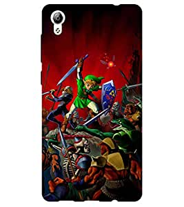 Chiraiyaa Designer Printed Premium Back Cover Case for Vivo Y51L (cartoon fighter) (Multicolor)