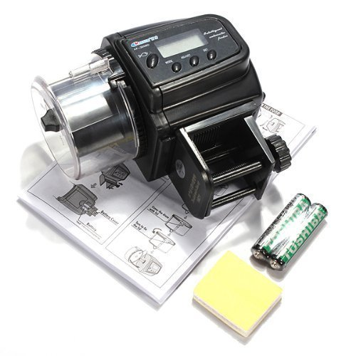 KLAREN New Version Aquarium Automatic Fish Food Tank Feeder Timer with Battery (Auto Fish compare prices)
