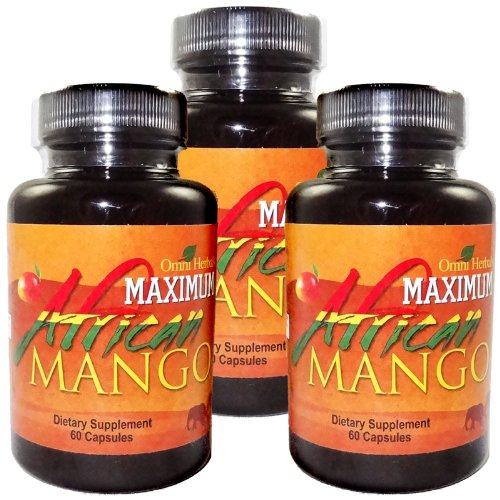 Maximum African Mango 100 Pure African Mango Plus Guarana Kola Nut Green Tea Advanced Weight Loss Supplement High Potency Appetite Suppressant Energy Boosters Fat Burner Slimming Highest Quality All Natural No Caffeine Added 450 mg per Capsule 3 Bottles 3