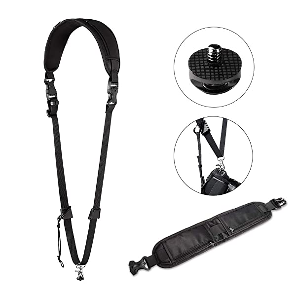 Camera Strap, UBeesize Camera Neck Shoulder Sling Strap with Quick Release & Safety Tether & Storage Pocket for Men/Women, Universal Compatibility with Canon Nikon DSLR Sony Digital Fujifilm Camera