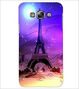 PrintDhaba Tower D-4893 Back Case Cover for SAMSUNG GALAXY A7 (Multi-Coloured)