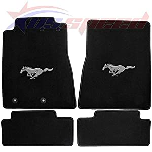 Amazon Com 2011 2012 Ford Mustang Floor Mats With Pony