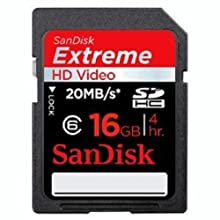 Sandisk SecureDigital High Capacity (SDHC) Extreme Video HD 16GB Speicherkarte ab 14,50 Euro inkl. Versand
