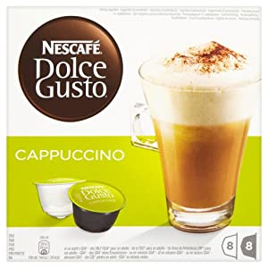 Nescafé Dolce Gusto Cappuccino 16 Capsules, 8 servings (Pack of 3, Total 48 Capsules/coffee pods, 24 servings)
