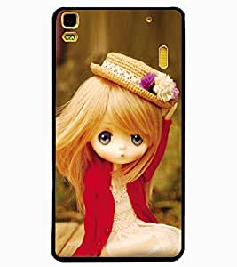 ColourCraft Lovely Doll Design Back Case Cover for LENOVO A7000 PLUS