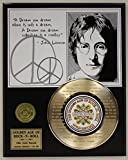 """John Lennon Laser Etched With the the Lyrics to """"Imagine"""" Limited Edition Gold Record Display"""
