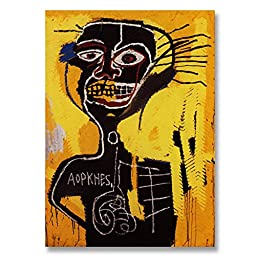 Jean-Michel Basquiat Original Graffiti Art Baptism 1982 Hand-painted Reproduction Oil Painting on Gallery Wrapped Canvas - 48X48 inch