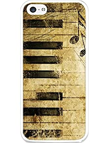 buy Snap On Iphone 5C Case Retro Piano Keyboard Pattern