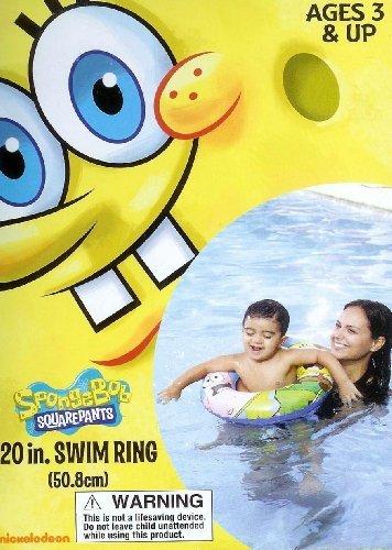 "Spongebob Squares & Patrick Star Swimming Pool 20"" Swim Ring"