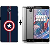 Oneplus 3 / One Plus 3 / Oneplus 3T Back Cover Combo Offer Shopping Monk Premium Quality 3D Printed Lightweight...