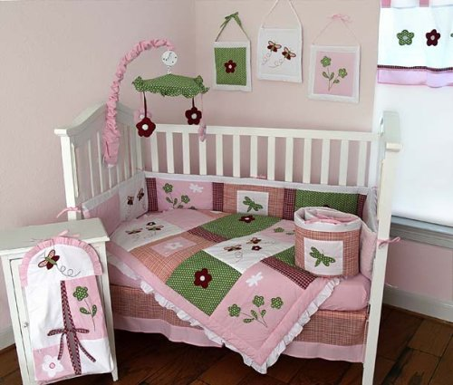 Nursery-To-Go Spring Time Bedding 10 Piece Crib Set