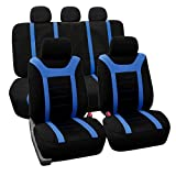 FH-FB070115 Sports Seat Covers Airbag Compatible and Rear Split Full Set Blue