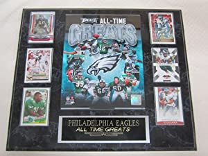 Philadelphia Eagles All Time Greats 6 Card Collector Plaque by J & C Baseball Clubhouse