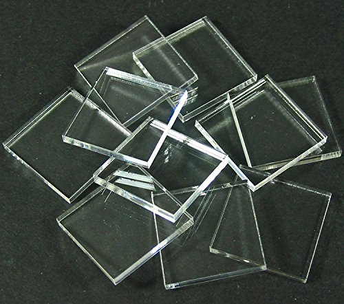 1.5mm Clear Miniature Bases, Square 25mm (25)
