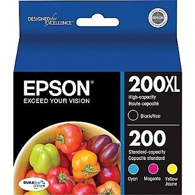 Epson 200XL Black + 200 Cyan/Yellow/Magenta Combo Saver Pack