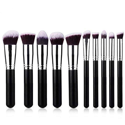 Wholesale Solutions Ltd - 10x Kabuki Cache-cernes Set Haute Qualité Maquillage Brosse Fard À Joues Base Brosses