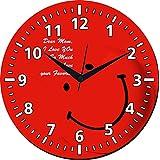 MeSleep Smile Wall Clock With Glass Top