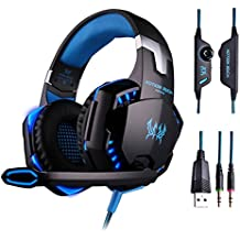KOTION EACH G1200 Professional 3.5mm PC Stereo Gaming Headset Bass Headphones Comfortable Headband With In-line...