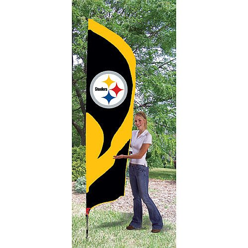 Party Animal Pittsburgh Steelers Tall Team Flag at SteelerMania