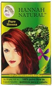 Hannah Natural Hannah Natural 100% Pure Henna Powder...