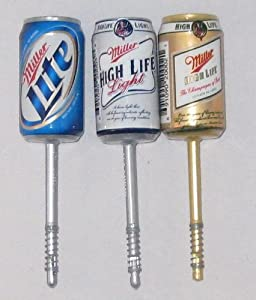 Miller Beer Can Bobbers - Set of 3