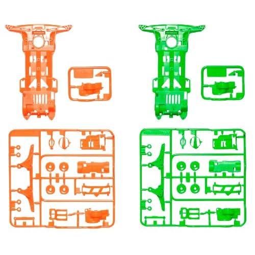 ミニ四駆限定シリーズ スーパーII 蛍光カラーシャーシセット (オレンジ・グリーン) 94904