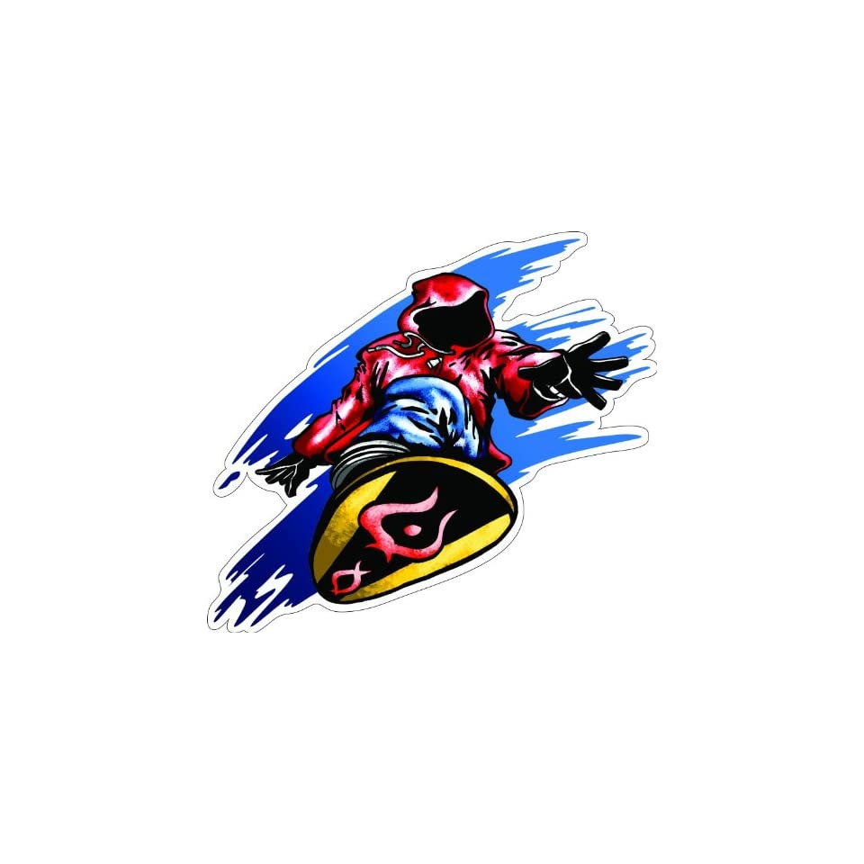 2 SNOWBOARDER JUMP Printed engineer grade reflective vinyl decal sticker for any smooth surface such as windows bumpers laptops or any smooth surface.