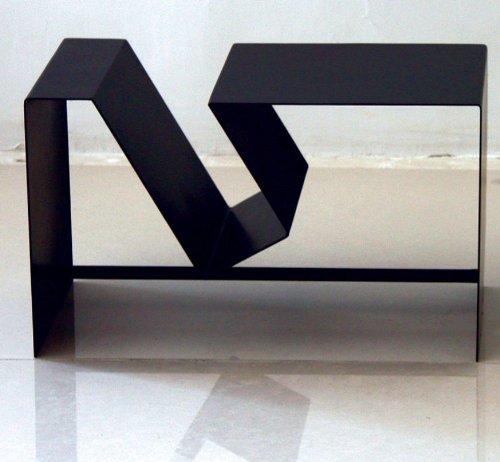 Image of Foose Magazine Rack-End Table by Mobital - Matt Black/Matt White (Foose-MR) (Foose-MR)