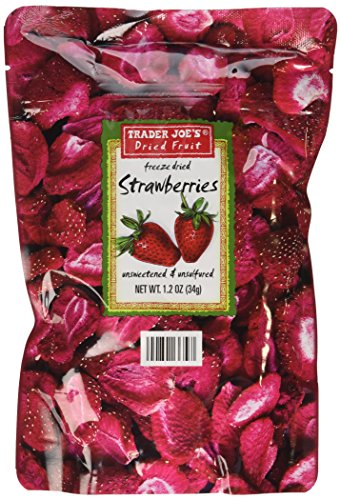 3 Pack Trader Joe's Dried Fruit Freeze Dried Strawberries Unsweetened and Unsulfured (Freeze Dried Strawberries Bulk compare prices)