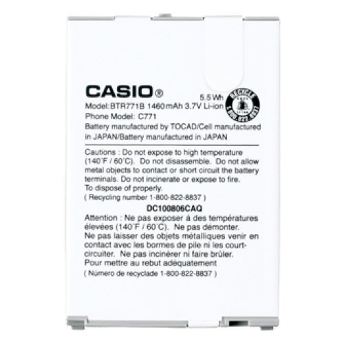 OEM Verizon Casio G'zone Commando C771 Standard Battery BTR771B