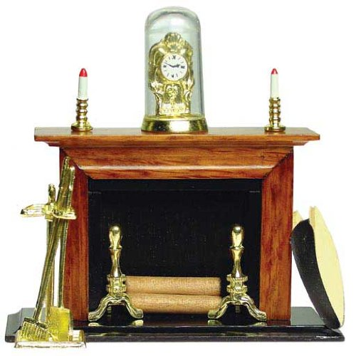 Dollhouse Miniature Regal Fireplace (Dollhouse Furniture Fireplace compare prices)
