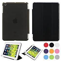 COLT Ultra Slim New Apple iPad Air (2013 version) Smart Case Cover. With Magnetic Auto Wake & Sleep Function and Stylus Pen - Black
