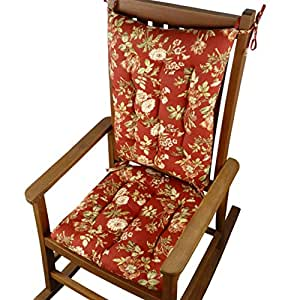 Rocking Chair Cushions Farrell Red Floral