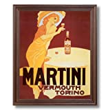 Martini Liquor Vintage Poster Ad Home Decor Wall Picture Cherry Framed Art Print