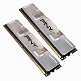 PNY OPTIMA 2GB (2x1GB) Dual Channel Kit DDR2 533 MHz PC2-4200  Desktop DIMM Memory Modules MD2048KD2-533 - Packaging may vary ~ PNY