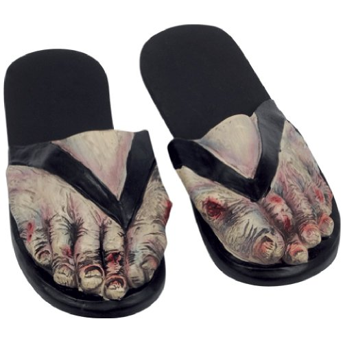 Adult Latex ZOMBIE FEET Costume Sandals LARGE