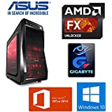 Ultimate Gaming PC - AMD FX 8370 Turbo 4.3GHZ 8 Core WRAITH Cooler Processor / 16GB DDR3 1866MHz CL10 Ram / 1TB SATA 6Gb/s 64MB Cache HDD / AMD Radeon RX 460 4GB GDDR5 Gaming Graphics Card / Windows 10 Pro / Office Professional Plus 2016 / DVD / Wifi