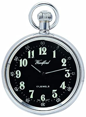 Woodford Pocket Watch 1040 Chrome Plated Mechanical Open Face
