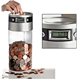 Sentik Supersized Digital UK Coin Bank Money Saving Jar Large LCD Display