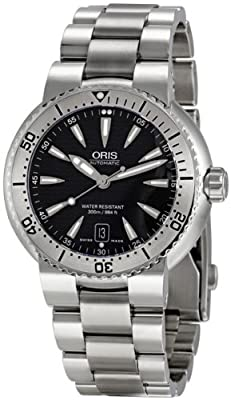 Oris Men's 73375334154MB Divers Black Dial Stainless Steel Watch