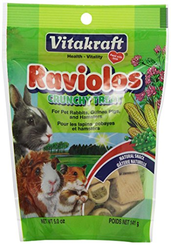 Vitakraft Raviolos Crunchy Treat for Pet Rabbits, Guinea Pigs & Hamsters, 5 Ounce Pouch 51zayVJK9bL