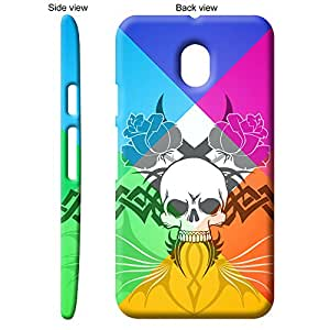 TheGiftKart™ Abstract Art Scary Skull Tattoo 7th Design Back Cover Case for Motorola Moto G Turbo - Multicolor