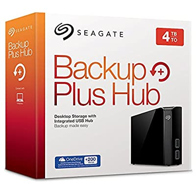 Seagate Backup Plus Hub 4TB External Desktop Hard Drive Storage STEL4000200