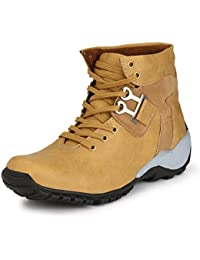 Freedom Daisy Men's Tan Synthetic Leather Casual Shoes, Boots