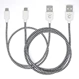 cheero Fabric braided USB Cable with micro USB 2本セット 50cm + 100cm