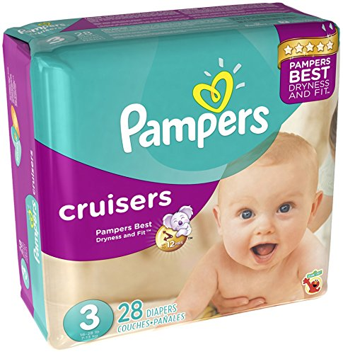 Pampers Cruisers Size 3 (16-28 Lb) 28 Diapers. - 1